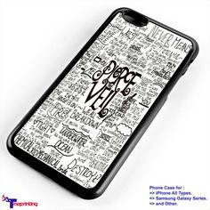 pierce the veil lyric merch 1 - Personalized iPhone 7 Case, iPhone 6/6S Plus, 5 5S SE, 7S Plus, Samsung Galaxy S5 S6 S7 S8 Case, and Other