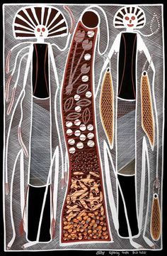 ymutate: Edward Blitner, Lightning Couple Hunting, found at Aboriginal Art Coop Gallery