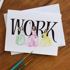 Hamilton Schuyler Sisters WORK Greeting Card