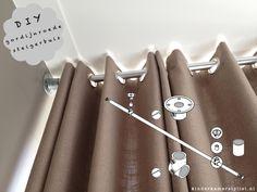 DIY gordijnen stang van steigerbuis | Karwei via kinderkamerstylist.nl