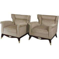 Pair to Arturo Pani Club Chairs