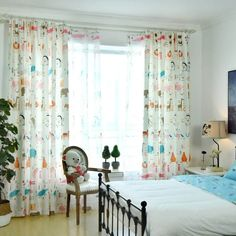 Cartoon Alphabet Lion Animal Curtains For Kids Bedroom Cute Colorful pertaining to dimensions 1543 X 1543 Bedroom Cool Curtains - Bedroom-curtains are Boys Bedroom Curtains, Kids Blackout Curtains, Small Curtains, Pink Curtains, Cool Curtains, Curtains Living, Colorful Curtains, Kids Bedroom, Nursery Room