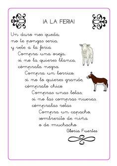 Poesias infantiles Teaching Spanish, Word Search, Worksheets, Words, Google, Christmas Poems, Reading Comprehension, Preschool, Songs