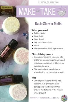 Try your hand at making these basic shower melts, then transform them into an exciting Essential Oil Make & Take Workshop. It's a perfect way to teach your team easy and fun ways to use their essential oils.
