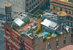 Okay just genius to use this entire New York roof top for a suburb looking home...