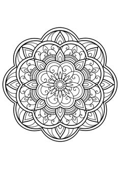 Mandala from Free Coloring book for adults, From the gallery : Mandalas