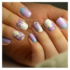 25 Butterfly Nail Art Ideas ❤ liked on Polyvore featuring beauty products, nail care and nail treatments