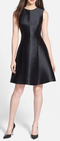 satin fit & flare dress http://rstyle.me/n/nmwjwpdpe
