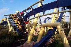 inverted coaster at Busch Gardens, Tampa Bay