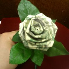 Fold Money To Rose – Origami 2020 Origami Rose, Origami Money Flowers, Money Origami, Origami Art, Money Rose, Money Lei, Christmas Origami, Christmas Crafts, Folding Money