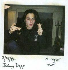 Johnny Depp   26 Fascinating Polaroids Of Celebrities