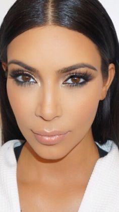 Kim Kardashian West makeup July 2015