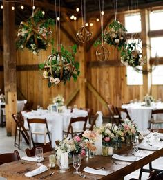 Charming vintage decor totally transforms virginia wedding venue not your color scheme a bit summery but thought you might like those hanging topiaries becs junglespirit Gallery