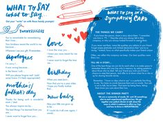 Writing prompts -- What to say for a _________ card.
