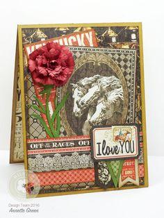 Masculine Carnation Card | Elizabeth Craft Designs