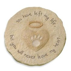 I want this!! Cement Paw Print Stepping Stone - BedBathandBeyond.com