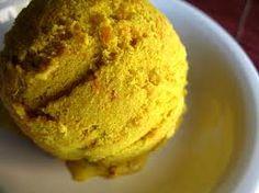 Curry gelato @ Esotico Gelato Cafe Austin, TX.  Artistic license with amazing results!
