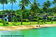 The Village Coconut Island, Phuket, Thailand; the resort seen from the jetty.