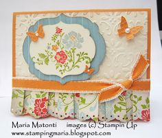 Card inspiration with ruffle