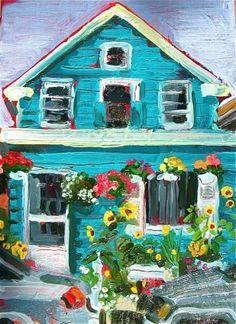 Turquois house on Union St. - Gretchen Kelly