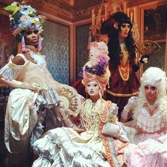 KIM CHI----Marie Antoinette illusion tonight in Milwaukee for Make a promise gala! #drag #dragqueen #marieantoinette #milwaukee