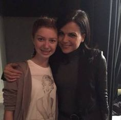 Isabella Blake (Young Zelena) with Lana. Please tell me this means there's a pic of Lana and Ava Acres (Young Regina).