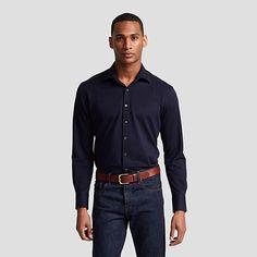 Mark Plain Slim Fit Button Cuff Shirt
