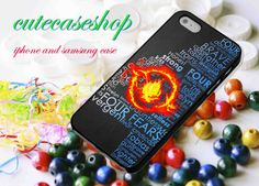 divergent dauntless team 4 for iphone 4/4S, iphone 5, iphone 5s, iphone 5c, samsung galaxy s3, samsung galaxy s4 case on Etsy, $14.00