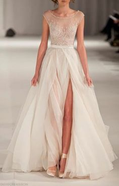 Women's Fashion | elfsacks Simple and flow y wedding dress, I would add some sleeves onto it.