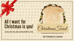 A #Natale da CAPATOAST arriva una grande novità! Chi non ama la classica pizza di scarole natalizia?  Noi l'abbiamo trasformata in un #Toast!  Dal 24 dicembre al 7 gennaio prova il nuovo Toast con scarole, pinoli, olive e la migliore provola dei Monti Lattari.  #CHRISTMASTOAST  All I want for Christmas is you!!