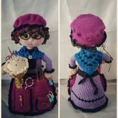 Amigurumis Crochet Eyes, Crochet Girls, Crochet Home, Crochet Yarn, Crochet Dolls Free Patterns, Crochet Designs, Doll Patterns, Granny Dolls, Crochet Pincushion