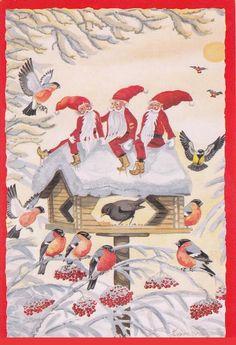 Leif Holmqvist, Christmas card 10 x 15, Finland