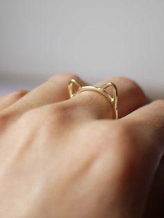 anel gato dourado aro 15