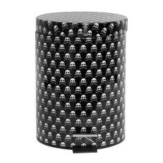 Lixeira Metal Skulls Preto 5L | Boutique de Luxo - BoutiqueDeLuxo