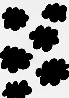 clouds black and white pattern by ashley goldberg