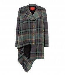 Tartan Blanket Coat