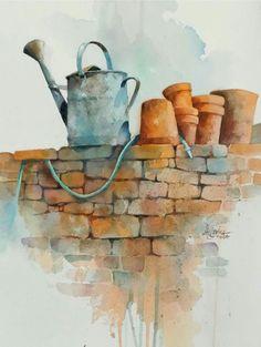 Watercolor by Alexis Lavine
