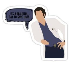 Greys Anatomy stickers featuring millions of original designs created by independent artists. Meme Stickers, Tumblr Stickers, Cool Stickers, Printable Stickers, Laptop Stickers, Meredith Grey, Aesthetic Stickers, Save Life, Cute Gifts