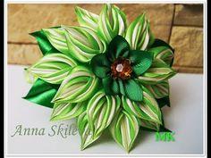 Хризантемы из узкой ленты 0,6 см, канзаши Мк / DIY - YouTube