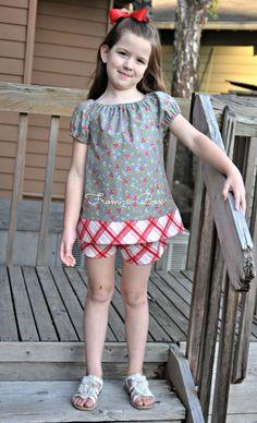 www.From-a-Box.com Peasant Dress in 3 Ways // PDF Pattern by Scientific Seamstress