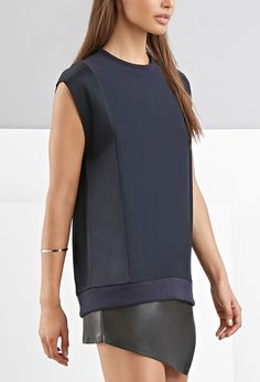 FOXIEDOX Paneled Boxy Top | Forever 21 - 2000157461
