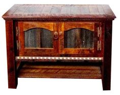 Rustic Reclaimed Barnwood TV Stand Country Roads Collection