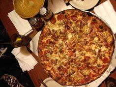 Italian Bomb pizza at Modern Apizza in New Haven, CT