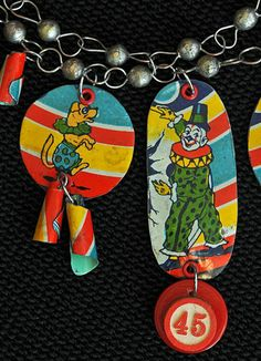 jewelry made from vintage tin - Google Search