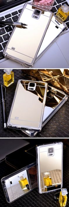 Have a Samsung Galaxy S6, S6 Edge, S6 Edge Plus, Note 4 or Note 5 phone? Get this BEAUTIFUL ULTRA THIN MIRROR case on your phone! Resists fingerprints avail in Silver or Gold. https://www.caseopolis.com/collections/android/products/samsung-galaxy-mirror-case