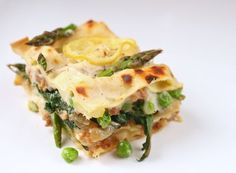 spring lasagna w/ asparagus, peas + stinging nettles (or baby spinach) • the bitten word
