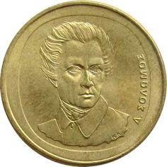 GRECIA / 2000 / 20 DRACMA - SOLOMOS Rare Coins, Coin Collecting, Silver Coins, Euro, Gold, Collection, Paper, Old Coins, Hanging Medals