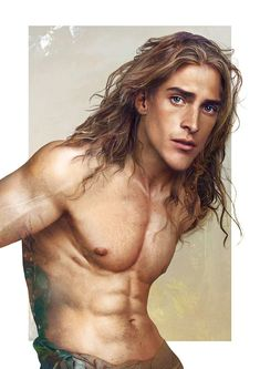 Tarzan by artist Jirka Väätäinen - Capitalizing on the popularity of Disney fan art, the artist unveils to Cosmopolitan magazine what Disney princes would look like if they were real people. The artwork is the result of blending Photoshop elements with digital painting.