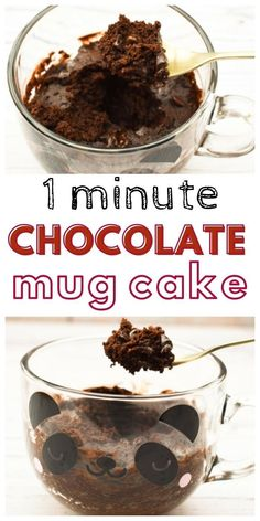This 1 minute chocolate mug cake is a very easy, very fast dessert. It's easy for kids to make and kids love this cake. #mugcakes #chocolatecake #brownies #chocolatebrownies #quickchocolatecake #chocolatemugcakes