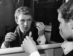 1959: Corin Redgrave (1939-2010) Vanessa Redgrave's younger brother, applies his makeup backstage at the Lyric theatre, where he appeared as Duke Ferdinand in a musical adaptation of Shakespeare's Love's Labours Lost